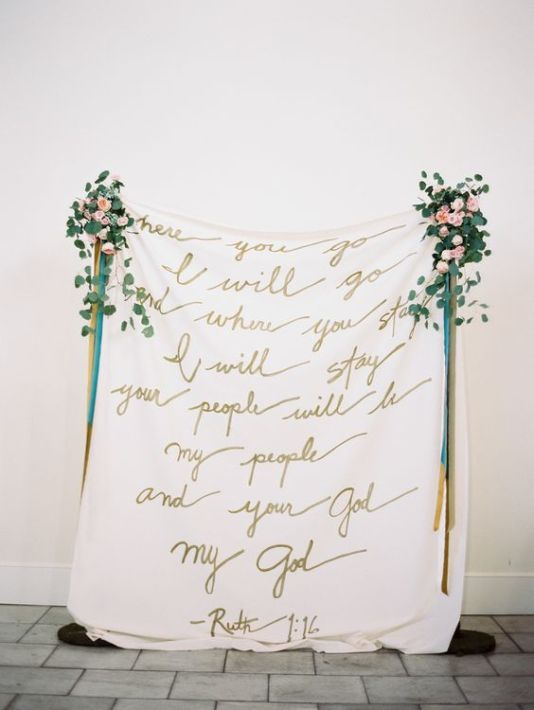 calligraphy backdrop